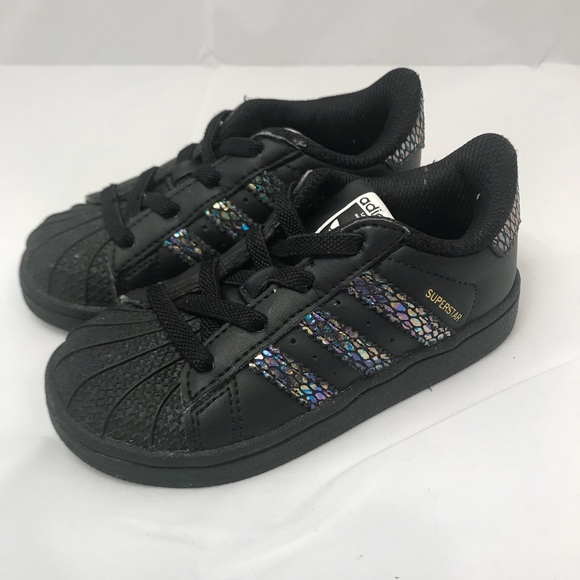 dbe16f36756f21 adidas Other - ADIDAS Superstar Toddler Shoes Sneakers Black 7K